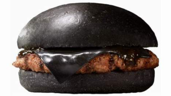 black cheeseburger